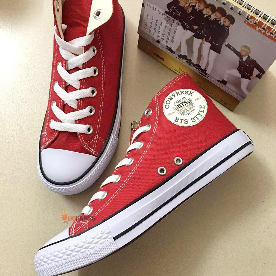 Giày converse BTS cổ cao đỏ - 2848648 , 226196033 , 322_226196033 , 345000 , Giay-converse-BTS-co-cao-do-322_226196033 , shopee.vn , Giày converse BTS cổ cao đỏ