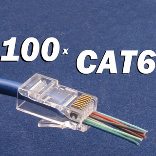 100 Đầu Nối Dây Mạng Cat6 Rj45