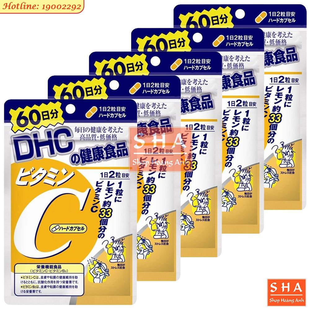 ??(Giá sỉ) Combo 5 gói Vitamin C DHC 120v (60 ngày)