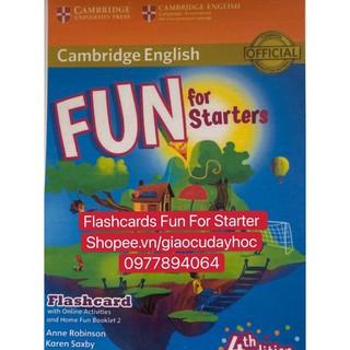 Flashcards Fun for Starter - 442 thẻ in 2 mặt ép plastics bền đẹp