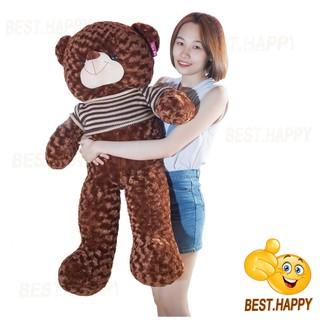 Gấu teddy áo len khổ vải 1m2 (cao thật 1m)