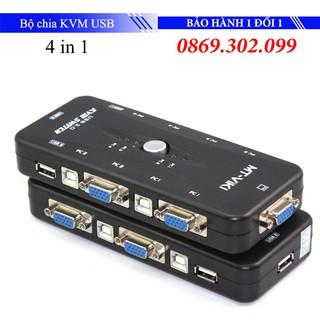 [Mã ELFLASH5 giảm 20K đơn 50K] Bộ chia KVM USB MT- VIKI 4 cây dùng 1 màn hình thumbnail