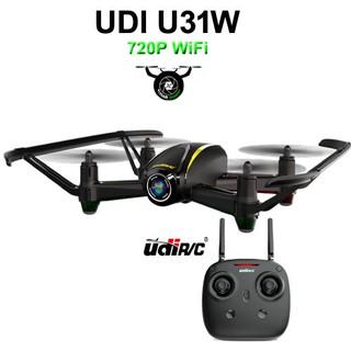 Flycam UDI U31W có định vị hoa tiêu với FPV và 2MP camera HD cân bằng cùng chức năng không đầu