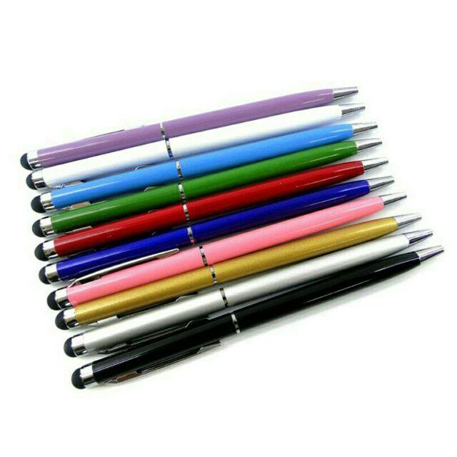 Bút cảm ứng 2 in 1 đầu viết mực 1 đầu viết cảm ứng, màu ngẫu nhiên