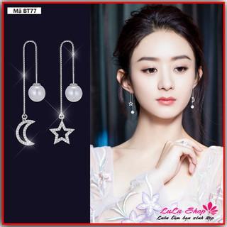 Bông tai nữ thả dài, phong cách đơn giản, thiết kế trăng sao - Hoa tai BT77 thumbnail