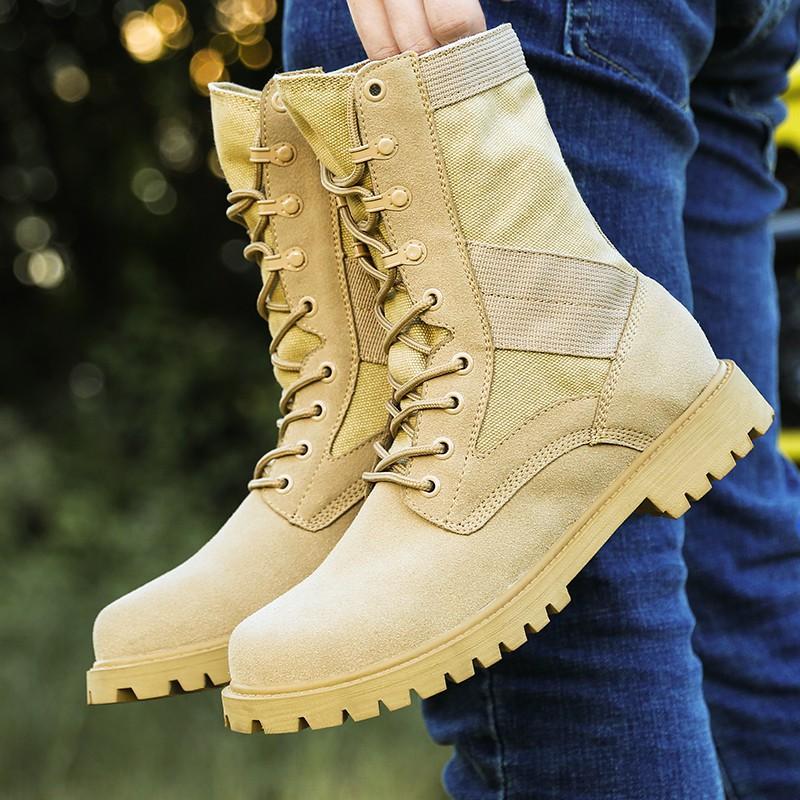 Giày bốt quân đội chất lượng cao cho nam