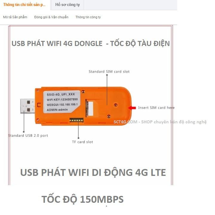 Bộ Phát Wifi 4G - Dongle 4G LTE Usb wifi dongle