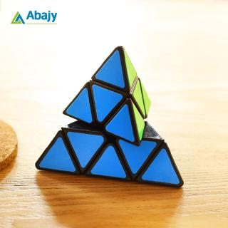 3×3 Pyramid Shaped Portable Magic Cube Creative Brain Relief Stress Children's Intelligence Puzzle