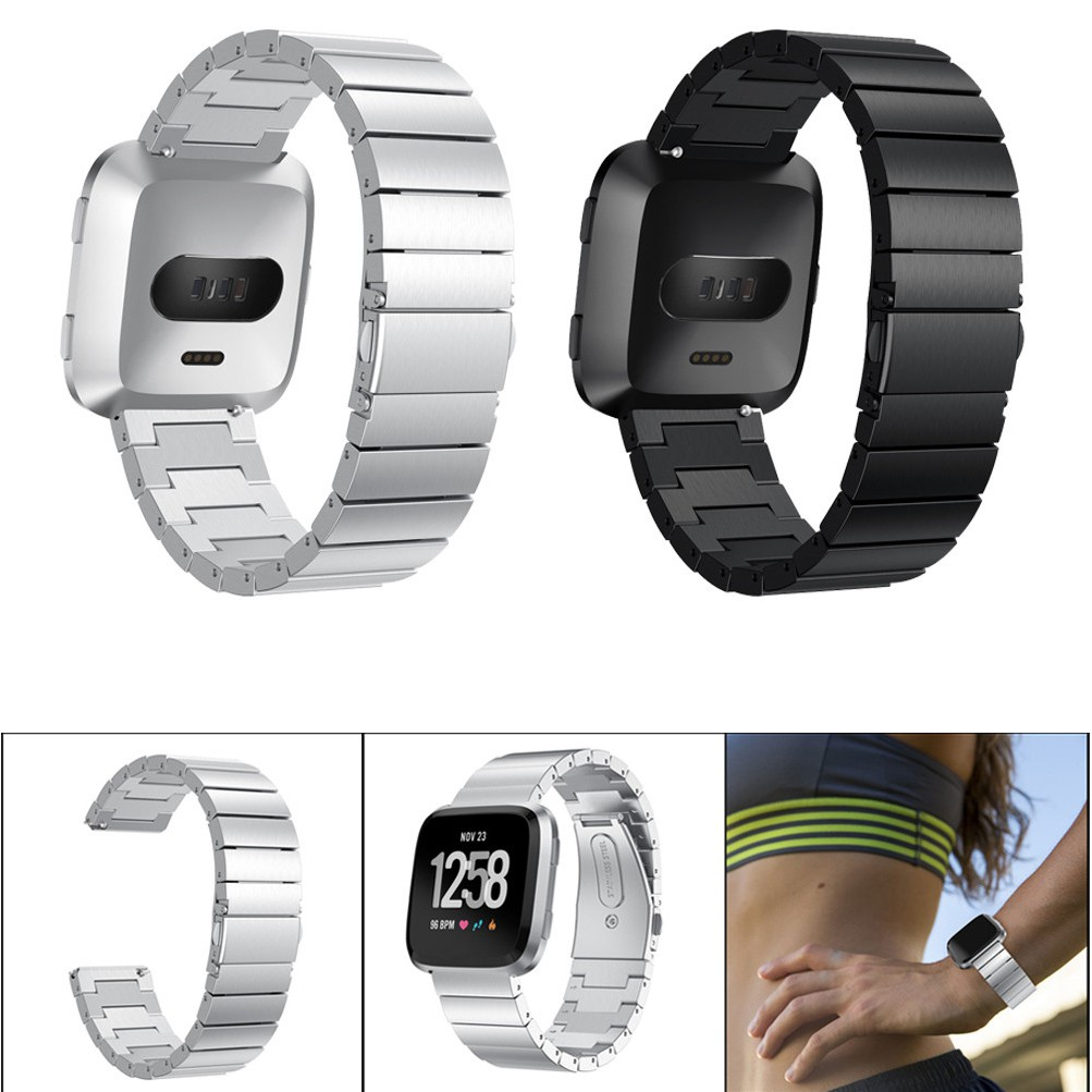 Luxury Stainless Steel Strap Wrist Band Bracelet Replacement For Fitbit Versa