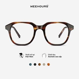 Gọng kính cận nam nữ WeeHours GOAT , dáng vuông thời trang, nhựa Acetate cao cấp thumbnail
