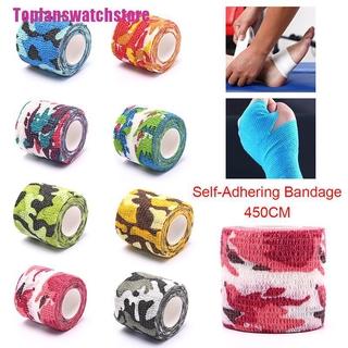 [Toplan] Camouflage Self-Adhesive Elastic Wrap Bandage Tape Athletic Protector Gauze Tape