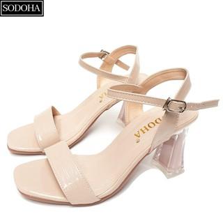 Giày cao gót thời trang SODOHA quai mảnh điệu đà , đế cao 6cm - GT1995 thumbnail