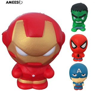Ameesi Super Hero Spiderman Hulk Ironman Slow Rising Squishy Stress Reliever rẻ cực rẻ