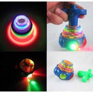 Colourful Light & Music Gyro Peg-Top Spinning Kids Toy