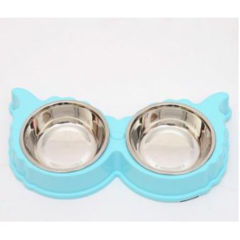 Bát đôi inox cao cấp cho chó mèo