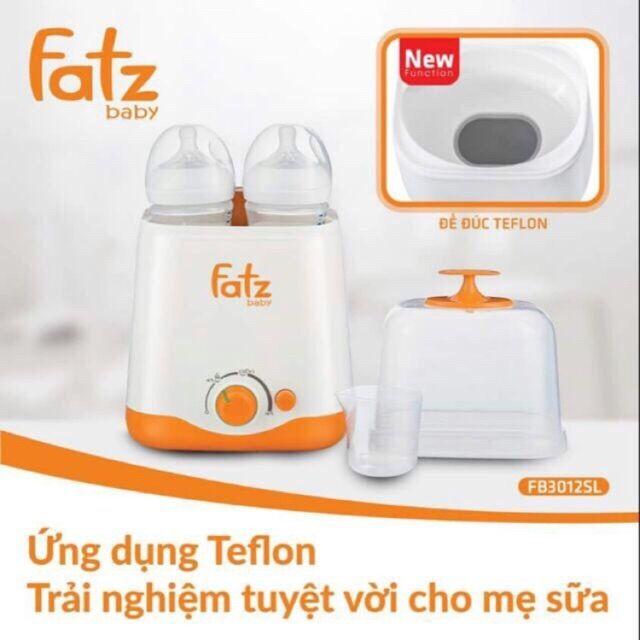 [ BH 12TH] Máy hâm sữa đa năng 2 bình cổ rộng fatzbaby fb3012sl thế hệ mới_ hàng chính hãng