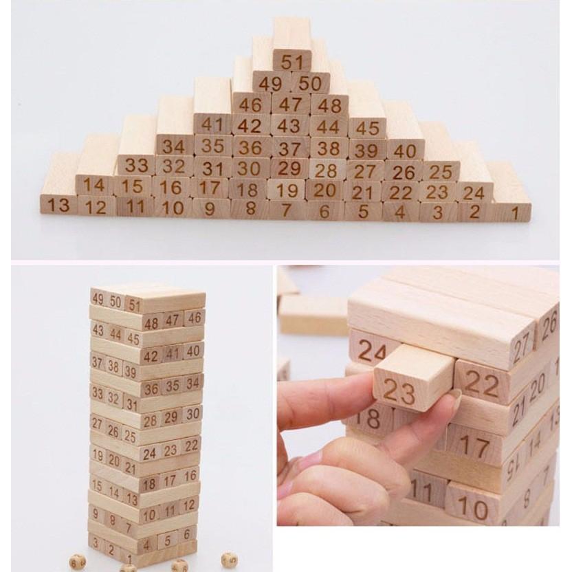 Rút gỗ số Vivitoys ⚡FREESHIP⚡ loại đẹp nặng 1kg – Đồ chơi gỗ cho bé