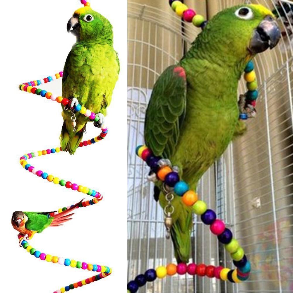 Wooden Hanging Ladder Swing Bridge Cage Toys For Parrot Bird Mouse Rat Hamster