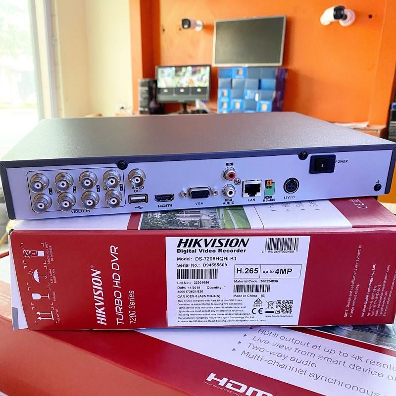 Đầu ghi hình Hybrid TVI-IP 8 kênh TURBO 3MP HIKVISION DS-7208HQHI-K1(S)