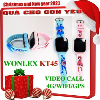 Đồng hồ định vị WONLEX KT45 [ ] gọi video call 4G WIFI định vị WIFI/GPS chịu nước ip67
