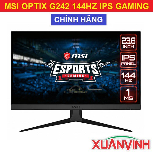 """Màn Hình MSI OPTIX G242 24"""" FHD IPS 144HZ 1MS New 100% Chính Hãng"""
