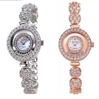 Combo Đồng Hồ Nữ Chính Hãng Royal Crown 5308 dây đá vỏ trắng + vỏ vàng hồng thumbnail