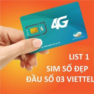 Sim số đẹp V90 Viettel 11 số nguyên kit( list 1)