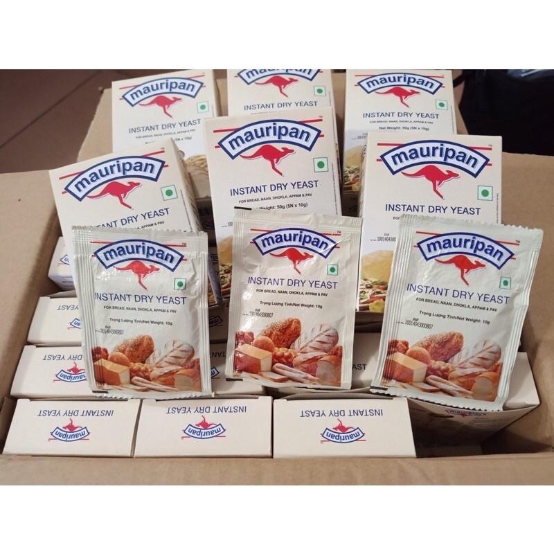 Hộp 5 gói men khô Mauripan gói 10gr, dùng làm bánh mỳ, bánh bao