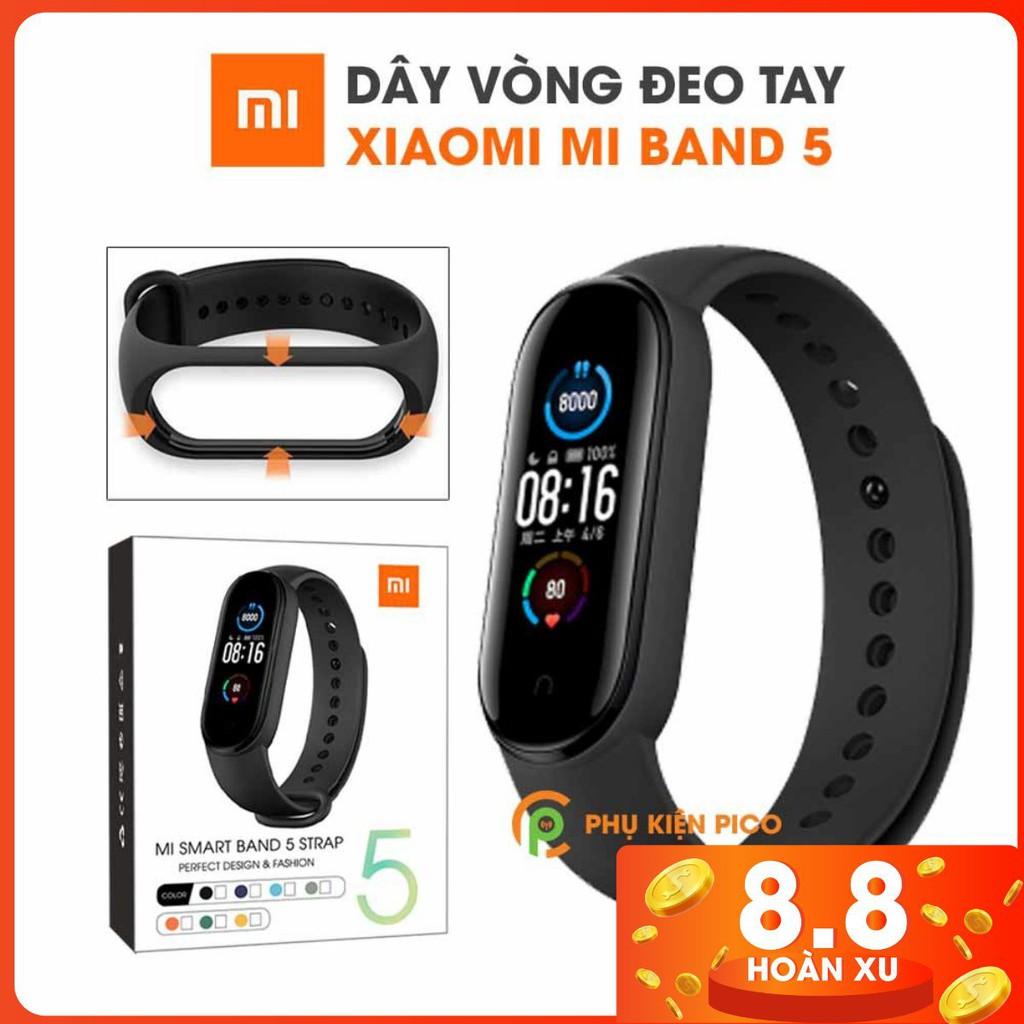 Dây đeo thay thế Xiaomi Mi Band 5 full box dây silicon vòng đeo tay Miband 5 nhiều màu
