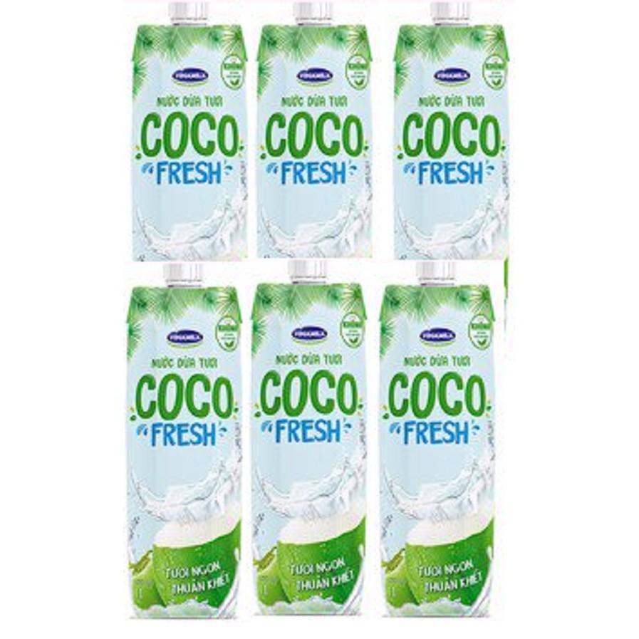 COMBO 6 CHAI 1L NƯỚC DỪA TƯƠI COCOFRESH