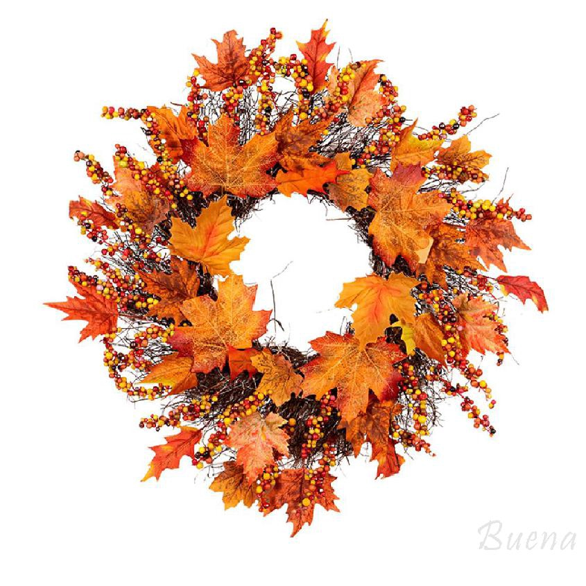 45CM rattan maple leaf Christmas wreath window door Christmas hanging wreath decoration 928