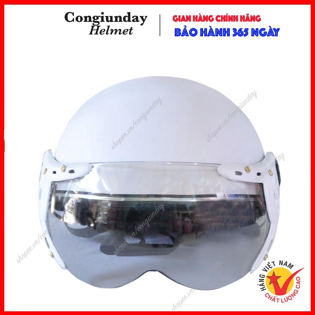 Mũ bảo hiểm kính càng  BAO ĐẬP  Nón bảo hiểm có kính - Mũ bảo hiểm nửa đầu