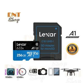 Thẻ nhớ MicroSDXC Lexar 256GB A1 V30 U3 4K 633x 95MB/s - With Adapter