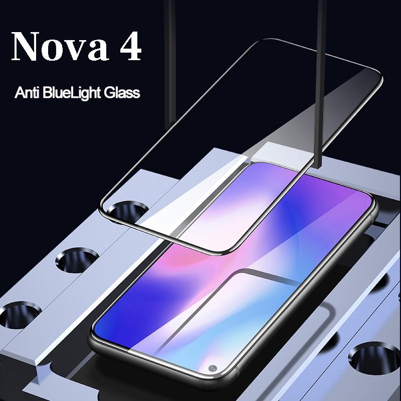 Kính Cường Lực 3D Full Màn Cho Tempered Glass For Huawei Nova 4 Nova4 Screen Protector Huawei V20 Full Cover 9H
