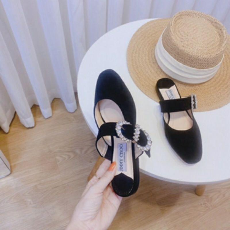 [free ship 50k ] giày bệt nữ khóa vuông đính đá siêu phẩm