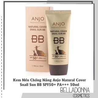 Kem Nền Chống Nắng Anjo Natural Cover Snail Sun BB SPF50+ PA+++ 50ml