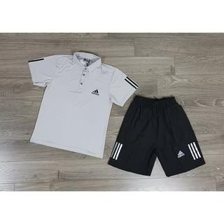 Bộ thể thao Adidas cổ bẻ mẫu HOT hè 2018
