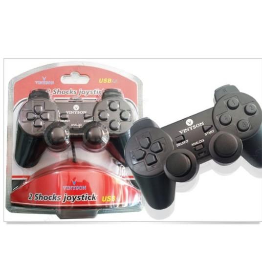 Combo gồm: 2 chiếc Tay cầm chơi game đơn cho PC ( chính hãng )