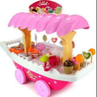 Bộ đồ chơi xe đẩy kem cho bé gái