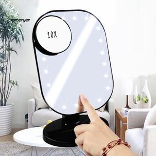 Gương trang điểm phóng to 10 lần chống sương mù cao cấp tiện dụng