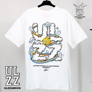 Hình ảnh [Mã WABR2291 giảm 10% đơn 99k] Áo thun local brand ULZZ ulzzang cloud astronaut dáng unisex tay lỡ - white fullbox-2