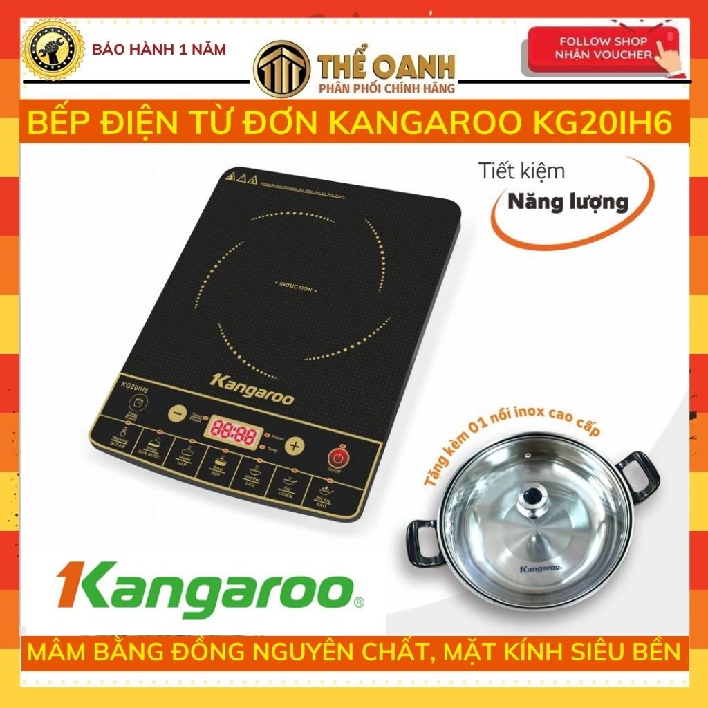 Bếp từ [𝐅𝐑𝐄𝐄𝐒𝐇𝐈𝐏] Bếp điện từ Kangaroo KG20IH6 - Tặng kèm nồi lẩu- tiết kiệm điện