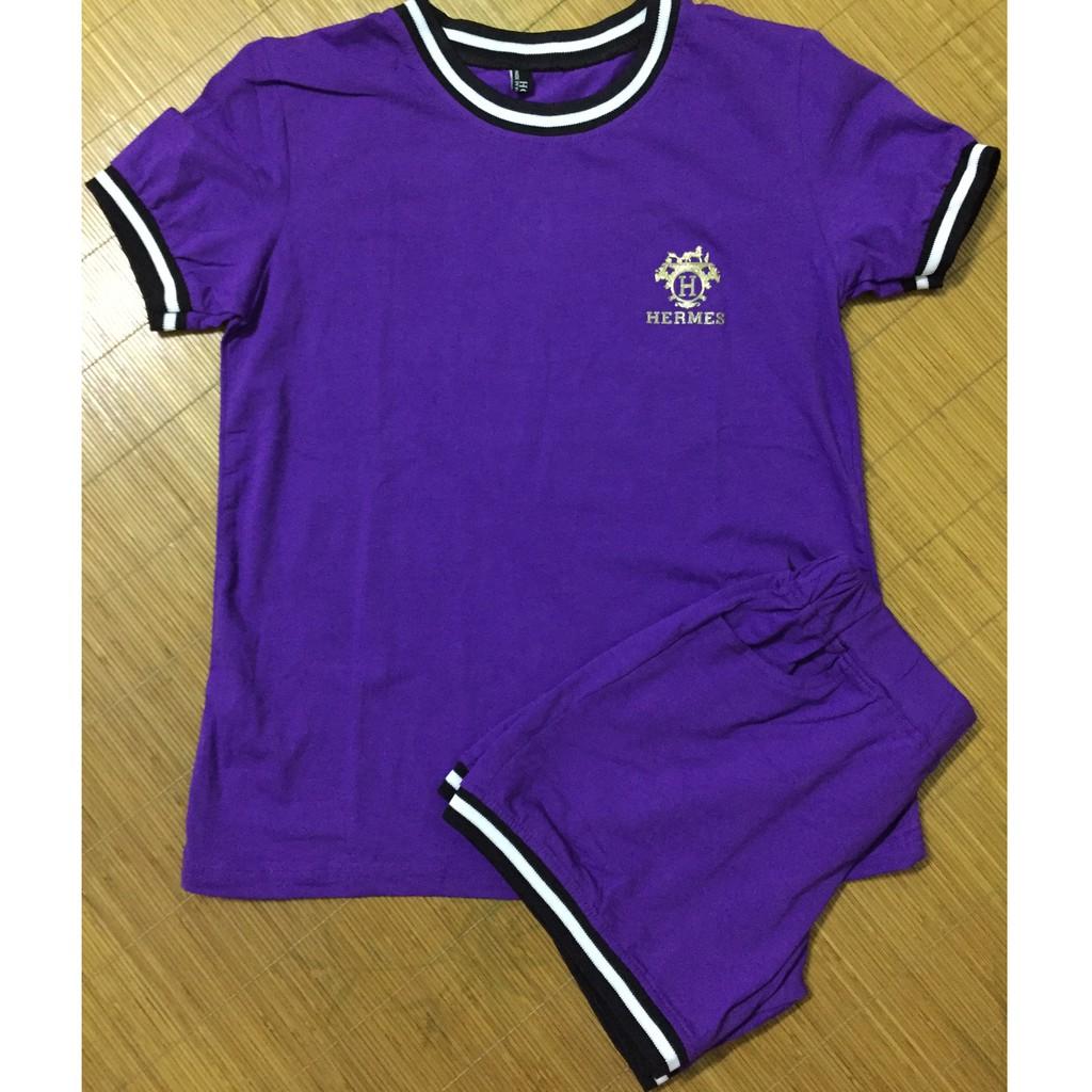 (Xả hàng) Bộ đùi mặc nhà/ màu tím gạch/ size L