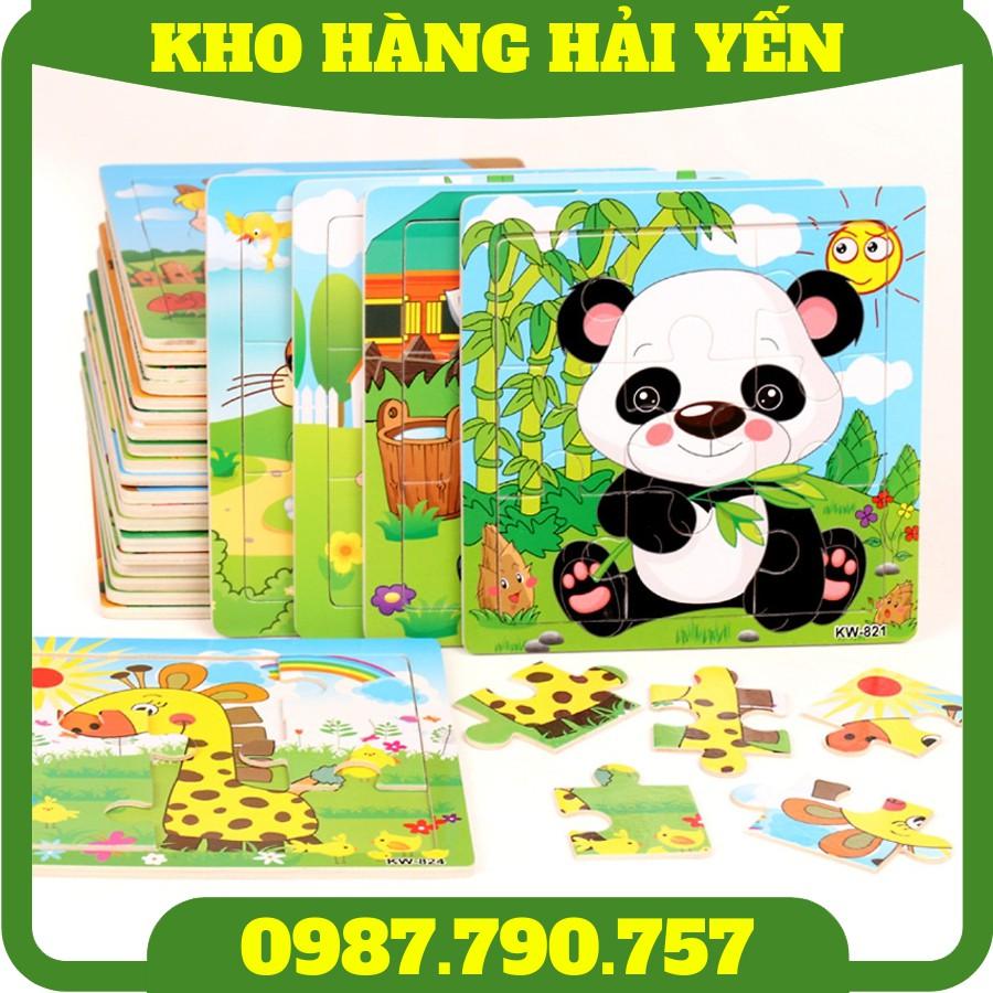 [Hot] Bộ xếp hình tranh ghép bằng gỗ 9–16–20 miếng giúp bé rèn luyện kĩ năng khéo léo và nâng cao khả năng tư duy