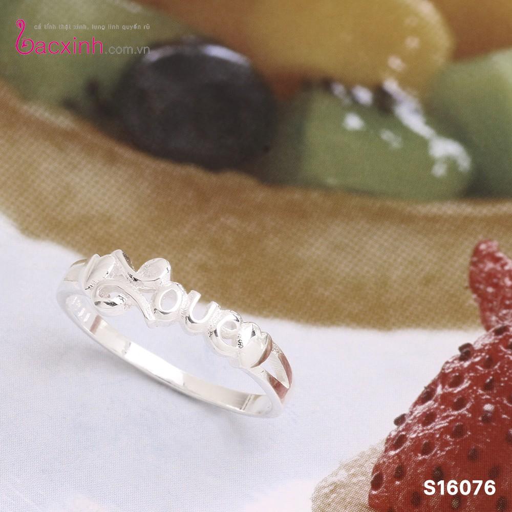 Nhẫn nữ trang sức bạc Ý S925 Bạc Xinh - Tình yêu đẹp S16076 - 10049639 , 391045740 , 322_391045740 , 229000 , Nhan-nu-trang-suc-bac-Y-S925-Bac-Xinh-Tinh-yeu-dep-S16076-322_391045740 , shopee.vn , Nhẫn nữ trang sức bạc Ý S925 Bạc Xinh - Tình yêu đẹp S16076