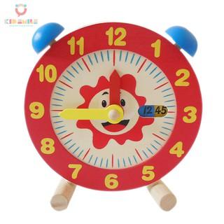 Mô hình đồng hồ báo thức và học xem giờ ( mặt sau in bảng phép tính cộng trừ )