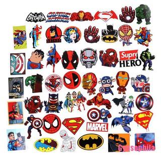 Gypsophila★ 50Pcs Superhero Graffiti Sticker Skateboard Laptop Suitcase Guitar Stickers