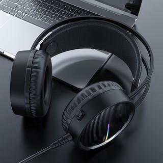 Tai nghe chơi game có dây HOCO W100  có micrô đa hướng / 3,5 mm cho mic / Đèn led 5 mầu Bảo hành 12 tháng