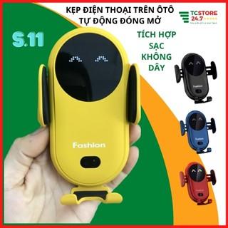 [xả kho] kẹp điện thoại trên ôtô xe hơi,oto xe tải,tự động, giá đỡ sạc không dây có chân đế hút, chân gắn cửa điều hòa