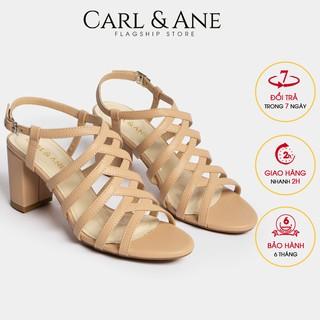 Carl & Ane - Giày sandal chiến binh thời trang nữ gót cao 7cm màu kem _ CS001
